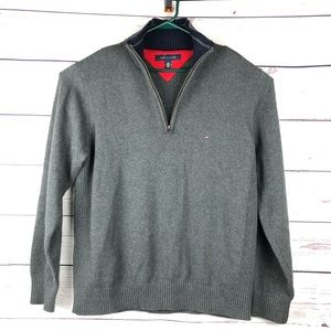 Tommy Hilfiger 1/4 Zip Sweater Ribbed sides (P4)
